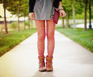 girl, fashion, and floral image