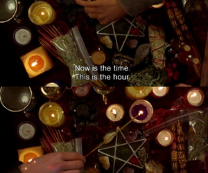 altar, candles, and pentagram image