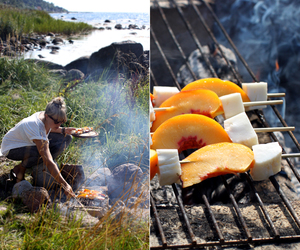 fire, food, and nature image