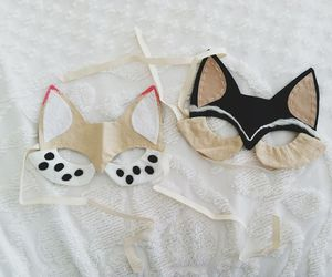cat, cute, and mask image