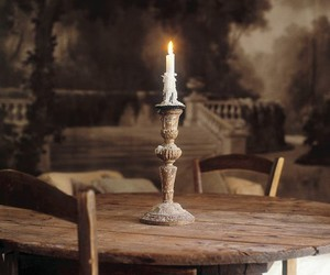 candle, romanticism, and table image