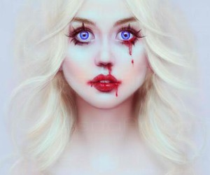 allison harvard, blood, and blue eyes image