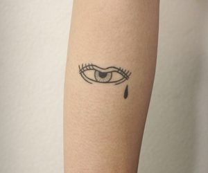 tattoo, eye, and cry image