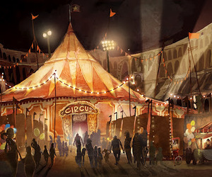 circus and illustration image