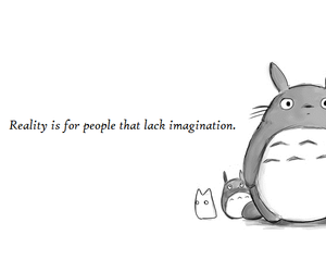 totoro, quote, and imagination image