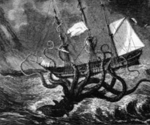 kraken and sea image