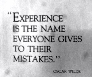 experience, oscar wilde, and mistakes image
