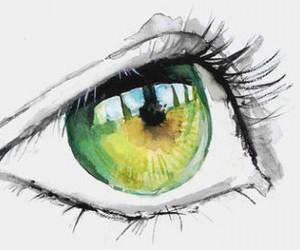 eye, art, and green image