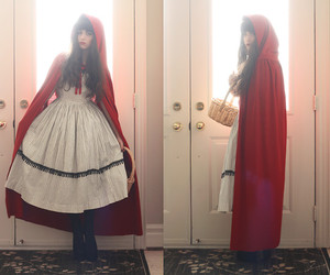 costume, little red riding hood, and Halloween image