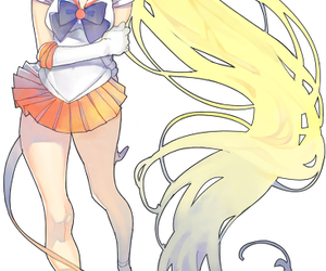 drawing, painting, and sailor moon image