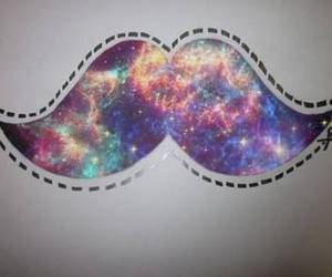 moustache, mustache, and space image