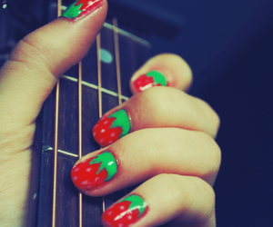 guitar and strawberry image