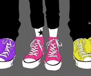anime, converse, and art image