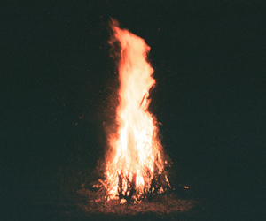 fire, photography, and vintage image