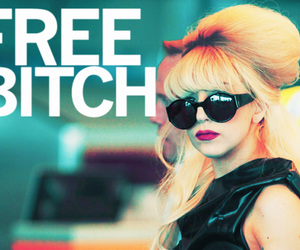 Lady gaga, the fame monster, and free bitch image