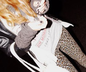 fashion, leopard, and blonde image