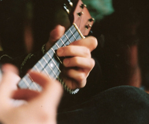 guitar, music, and photography image