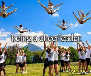 cheerleader, cheerleading, and cheer image