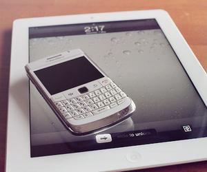 blackberry, ipad, and white image