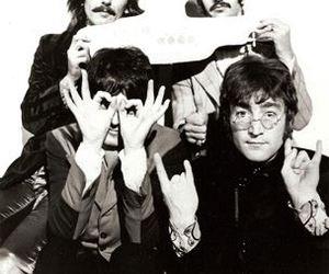 the beatles, john lennon, and ringo starr image