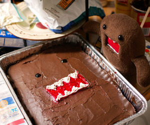 cake, domo, and chocolate image