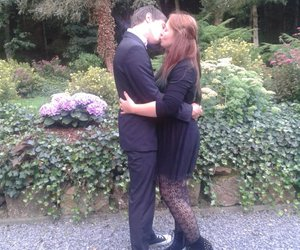 wedding, kiss, and my boyfriend and me image