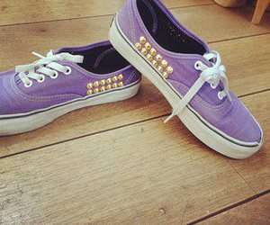 purple, shoes, and studs image