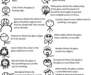 glass, funny, and optimist image