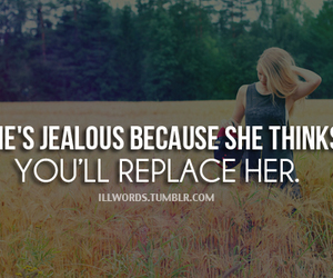 girl, jealous, and quote image