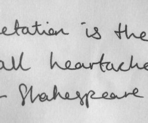 quote, shakespeare, and expectations image
