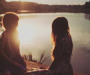 girl, lake, and photography image