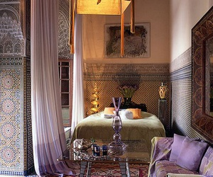 bedroom, morocco, and decoration image