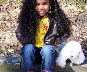 curly, kid, and swag image