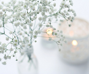 white, candle, and light image