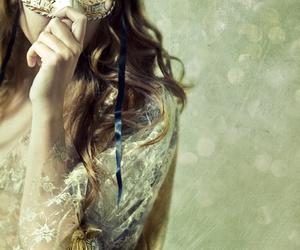 mask, girl, and masquerade image