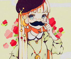 anime, mustache, and adorable image