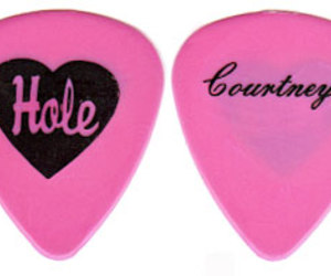 Courtney Love, pink, and guitar image