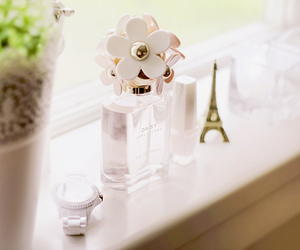 perfume, flowers, and white image