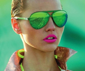 fashion, neon, and model image