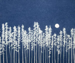 moon, tree, and blue image