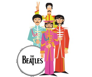 the beatles and illustration image