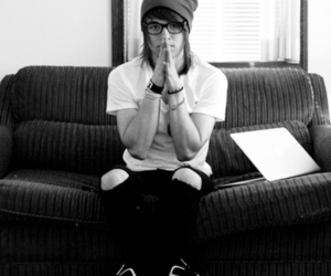 black and white, glasses, and the ready set image
