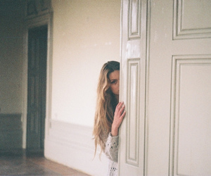 girl, door, and photography image