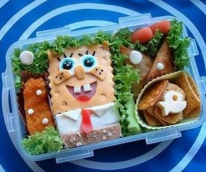 food and spongebob image