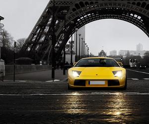 car, paris, and yellow image