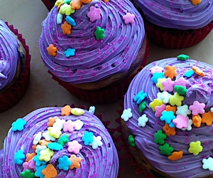 color, cupcake, and sweet image