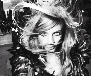 fashion, black and white, and feather image