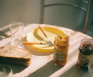 breakfast, film, and jam image