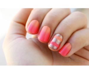 nails, beauty, and coral image