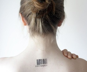 back, bar code, and blond image